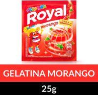 Gelatina em pó Royal Morango 25g | Caixa com 15 unidades - Cod. 7622300859824C15