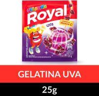 Gelatina em pó Royal Uva 25g | Caixa com 15 unidades - Cod. 7622300859787C15