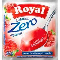 Gelatina Royal Zero 12g Morango | Caixa com 12 unidades - Cod. 7622300172787C12