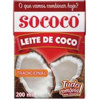 Leite de Coco Sococo Tetra Pack 200ml - Cod. 7896004400372C24