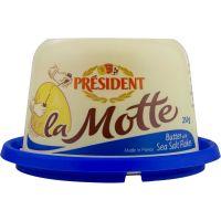 Manteiga com Sal la Motte Président Pote 250g | Caixa com 6 Unidades - Cod. 3228021000084C6