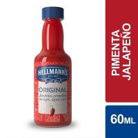 Molho de Pimenta Hellmann'sJalapeño Original 60ml | Caixa com 12 Unidades - Cod. 27891150062621