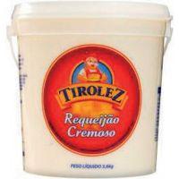 Requeijão Tirolez Balde 3,6kg   Caixa com 4 unidades - Cod. 7896030518423