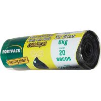 Saco para Lixo Preto Fortlar 30L | Com 20 unidades - Cod. 7898078485538