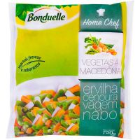 Vegetais à Macedônia Congelado Bonduelle 750g | Caixa com 10 Unidades - Cod. 3083681053272C10
