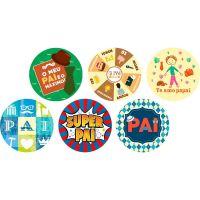 Disco Decorativo Dia dos Pais Rich's 12 Unidades - Cod. 7898904717383