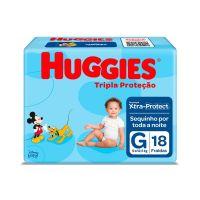 Fralda Huggies Tripla Proteção G 18un - Cod. 7896007550210