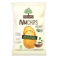 Chips Orgânico Mãe Terra Nuchips Batata Rústica com Sour Cream 32g | 6 unidades - Cod. C28858