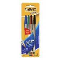 Caneta Esferográfica BIC Cristal Dura +c/ 4 unidades - Cod. 070330144149