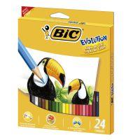 Lápis de Cor BIC Evolution com 24 cores - Cod. 070330423213