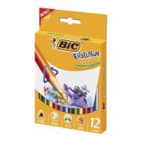 Lápis de Cor BIC Evolution Triangular Gigante 12 cores - Cod. 070330423275