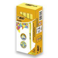 Marcador de Texto Fluorescente BIC Marking com 12 Amarelo - Cod. 070330655508C12