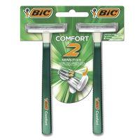 Aparelho de Barbear BIC Comfort 2 Pele Sensível com 2 unidades - Cod. 070330709485C12