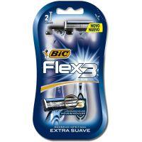 Aparelho de Barbear BIC Flex3 com 2 unidades - Cod. 0070330736580