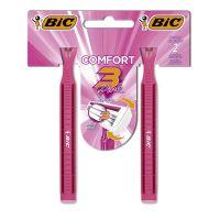 Aparelho de Depilar BIC Comfort 3 Pink com 2 unidades - Cod. 070330742222C12