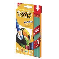 Lápis de Cor BIC Evolution + Lápis preto - Cod. 070330946446