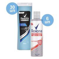 Compre 30 Sabonete Líquido Rexona Active 200 Ml   Ganhe 6 Álcool Em Gel Para As Mãos Rexona Com Glicerina 300Ml - Cod. C29303