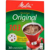 Filtro de Papel Melitta 103 | Com 30 Unidades | Caixa com 48 Unidades - Cod. 7891021001946C48