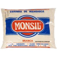 Farinha de Mandioca Monsil Crua Plástico 1Kg - Cod. 7896035911250