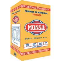 Farinha de Mandioca Monsil Torrada Papel 1Kg - Cod. 7896035911199