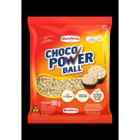 Confeito de Chocolate Choco Power Ball Mini Branco 300g - Cod. 7896072641547