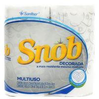 Papel Toalha Snob Decorado | Com 2 Unidades | Fardo com 12 Unidades - Cod. 7896110061122C12