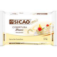Cobertura de Chocolate em Barra Sicao Mais Branco 2,1Kg - Cod. 20842060512
