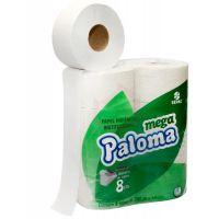 Papel Higiênico Paloma Folha Simples Rolão 300mtX10cm   Com 8 Unidades - Cod. 7896026800242