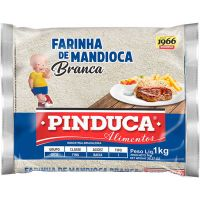 Farinha de Mandioca Pinduca Crua Plástico 1Kg - Cod. 7896015910051