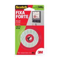 Fita Dupla Face 3M Scotch Fixa Forte Espuma - Uso Interno - 12 mm x 1,5 m - Cod. 7891040121397