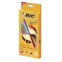Lápis de Cor BICOLOR BIC com 12 unidades (x6 embalagens) - Cod. 10070330422107