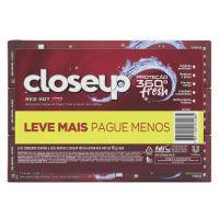 Pack Gel Dental Red Hot Closeup Proteção 360° Fresh com 6 Unidades 90g - Cod. 7891150071285