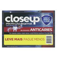 Pack Creme Dental Closeup Proteção Bioativa Bloqueio Anticáries com 6 Unidades 70g - Cod. 7891150074804