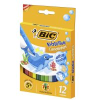 Canetinhas BIC Evolution Ultra Lavável c/12 cores (x6 embalagens) - Cod. 3086126302355