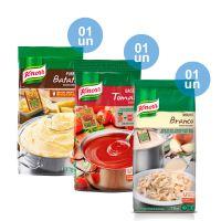 Combo - 1 Purê de Batatas Knorr 1,01kg + 1 Base Tomate Desidratado Knorr 750g + Molho Branco Bechamel Knorr 1,1 kg e Ganhe 25% de Desconto - Cod. C32691