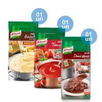Combo - 1 Purê de Batatas Knorr 1,01kg + 1 Base Tomate Desidratado Knorr 750g + 1 Molho Escuro Demi Glace Knorr 1,1 kg e Ganhe 25% de desconto - Cod. C32692