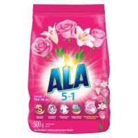 Sabão em Pó Ala 5 em 1 Rosas e Flor-de-Lis 500g | 9 unidades - Cod. C32750
