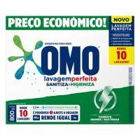 Lava Roupas Sanitizante em Pó Omo Lavagem Perfeita Sanitiza & Higieniza 800g | 10 unidades - Cod. C32804