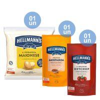 Combo - 1 Ketchup Hellmann's Profissional 1.01kg + 1 Mostarda Hellmann's Profissional 1.01kg + 1 Maionese Hellmann?s Bag 1.6kg e Ganhe 20% de desconto - Cod. C32805