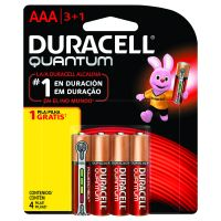 Pilha Alcalina AAA Palito DURACELL Quantum Leve 4 Pague 3 unidades - Cod. 41333667072