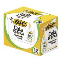 Cola branca BIC 90g  Caixa c/ 12 Unidades - Cod. 70330529847