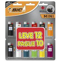 Isqueiro BIC Mini Leve 12 Pague 11 - Cod. 70330655836
