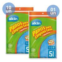 Combo COMPRE 10 Pano Limpeza Leve 33X50 Alklin  Azul 5 Unidades | GANHE 1Pano Limpeza Leve 33X50 Alklin  Azul 5 Unidades - Cod. C33072
