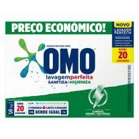 Lava Roupas Sanitizante em Pó Omo Lavagem Perfeita Sanitiza & Higieniza 1,6kg | 9 unidades - Cod. C33171