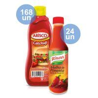 Combo COMPRE 168 Catchup Arisco Tradicional 390G  |  GANHE 24 Molho De Pimenta Knorr Vidro 150Ml - Cod. C33432