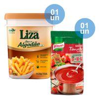Combo - Compre 1 Óleo de Algodão Liza 14,5kg e Ganhe 1 Base Tomate Desidratado Knorr 750g - Cod. C34044