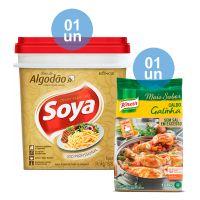 Combo - Compre 1 Óleo de Algodão Soya Balde 14,5kg e Ganhe 1 Caldo de Galinha Knorr 1,01kg - Cod. C34222