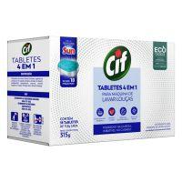 Detergente Tablete 4 em 1 Cif Para Máquina de Lavar Louças 18 unidades | 6 unidades - Cod. C34567