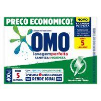 Lava Roupas Sanitizante em Pó Omo Lavagem Perfeita Sanitiza & Higieniza 400g | 3 unidades - Cod. C34587
