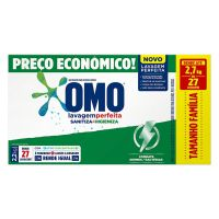 Lava Roupas Sanitizante em Pó Omo Lavagem Perfeita Sanitiza & Higieniza 2,2kg | 9 unidades - Cod. C34588